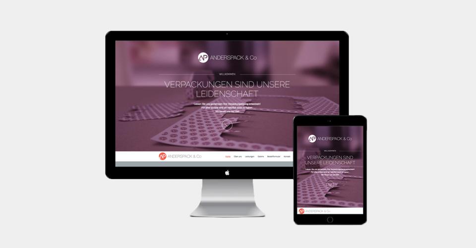anderspack & co website responsive